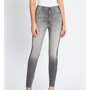 MOTHER The Swooner High Rise Gray Skinny Jeans